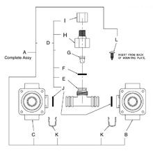 Hot & Cold Air-Control Valve Body Assembly Drawing 9955-001-002