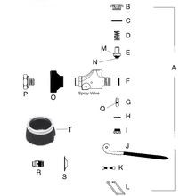Spray Valve Repair Kit Models 2912 (Old Style) & 2990 (New Style)