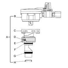 Retro-Air Air-Control Valve Cartridge Drawing 9955-203-001