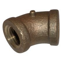 1/4 BRASS 45 DEG ELBOW LF