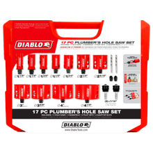 17 pc Plumber's Bi-Metal Hole Saw Set