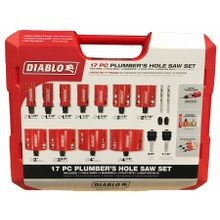 Plumbers Hole Saw Kit - 17 Pc