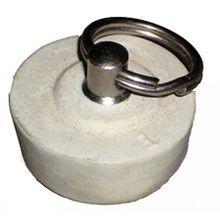 1 IN SOLID WHITE STOPPER METAL POST