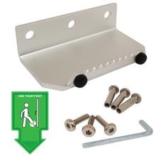 Foot Operated Door Pull - Silver