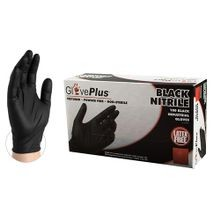 BLACK NITRILE GLOVES X-LARGE (BX/100)