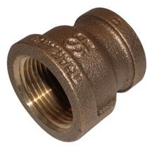 3/8 X 1/4 BRASS RED COUPLING LF