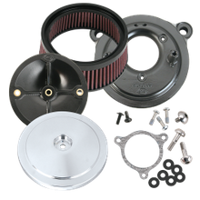 S&S<sup>®</sup> Stealth Air Cleaner Kit With S&S<sup>®</sup> Chrome Domed Bobber Air Cleaner Cover For for 2008-'16 HD<sup>®</sup> Tri-Glide and CVO<sup>®</sup> Stock-Bore Throttle By Wire Models