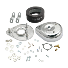 S&S<sup>®</sup> Teardrop Air Cleaner Kit For 1984-'89 HD<sup>®</sup> Big Twins and 1986-'87 Sportster<sup>®</sup> Models With Stock Butterfly Carburetors.