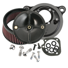 S&S<sup>®</sup> Stealth Air Cleaner Kit Without Air Cleaner Cover For 1993-'99 HD<sup>®</sup> Big Twin Models With Stock CV Carb