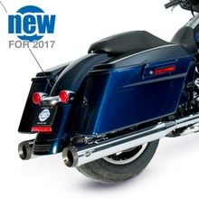"Grand National 4"" Slip-On Mufflers for 1995-16 Touring Models - Chrome"