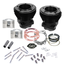 "88""  Sidewinder 3-5/8"" Big Bore Cylinder Kit for 1979-'84 Big Twins - Gloss Black Finish"