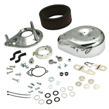 S&S<sup>®</sup> Teardrop Air Cleaner Kit for 2007-'17 HD<sup>®</sup> XL Sportster<sup>®</sup> Models with Stock EFI - Chrome