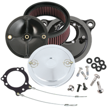 S&S<sup>®</sup> Stealth Air Cleaner Kit With S&S<sup>®</sup> Chrome Muscle Air Cleaner Cover for 2008-'16 HD<sup>®</sup> Tri-Glide and CVO<sup>®</sup> Stock-Bore Throttle By Wire Models