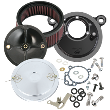 S&S<sup>®</sup> Stealth Air Cleaner Kit With Muscle Cover For 1993-'99 HD<sup>®</sup> Big Twin Models With S&S<sup>®</sup> Super E or G Carburetor - Chrome Finish
