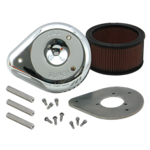 S&S<sup>®</sup> High Flow Teardrop Air Cleaner Kit For HD<sup>®</sup> Big Twins and Sportster<sup>®</sup> Models S&S<sup>®</sup> Super D Carburetor.