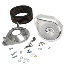 Notched Teardrop Air Cleaner Kit For Super E & G Carbs On 1966-84 Big Twins W/5 Gal Tanks