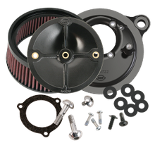 S&S<sup>®</sup> Stealth Air Cleaner Kit Without Cover For 2008-'16 HD<sup>®</sup> Touring Models, 2009-'16 Tri-Glide, and 2011 Softail CVO with S&S<sup>®</sup> 66mm Throttle Hog