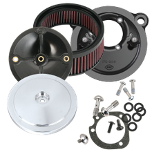 S&S<sup>®</sup> Stealth Air Cleaner Kit With S&S<sup>®</sup> Chrome Domed Bobber Air Cleaner Cover for 1991-'06 HD<sup>®</sup> Carbureted XL Sportster<sup>®</sup> Models