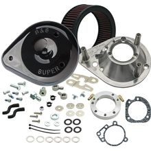 S&S<sup>®</sup> Teardrop Air Cleaner Kit for 1991-'06 HD<sup>®</sup> Carbureted XL Sportster<sup>®</sup> Models - Gloss Black