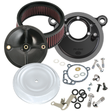 S&S<sup>®</sup> Stealth Air Cleaner Kit With Dished Bobber Cover For 1993-'99 HD<sup>®</sup> Big Twin Models With S&S<sup>®</sup> Super E or G Carburetor - Chrome Finish
