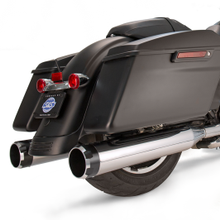 "Mk45 Chrome Thruster with Black Contrast End Cap - Chrome Body Finish - 4.5"" Slip-On Muffler for 1995-'16 Touring Models"