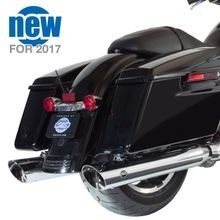 "Slash Cut 4"" Touring Mufflers - Chrome Body with Slash Down End for 2017 Touring Models"