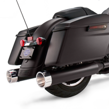 "Mk45 Chrome Tracer End Cap - Jet-Hot<sup>®</sup> Black Body Finish - 4.5"" Slip-On Muffler for 1995-'16 Touring Models"