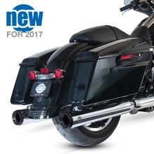 "Grand National 4"" Slip-On Mufflers for 2017-'18 Touring Models - Chrome"