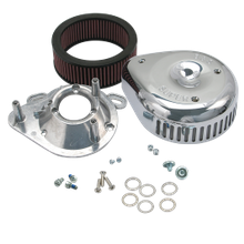 S&S<sup>®</sup> Teardrop Air Cleaner Kit W/Slasher Cover For 1995-'16 HD<sup>®</sup> EFI Big Twins W/S&S<sup>®</sup> Single Bore TB