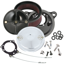 S&S<sup>®</sup> Stealth Air Cleaner Kit With S&S<sup>®</sup> Chrome Muscle Air Cleaner Cover for 1991-'06 HD<sup>®</sup> Carbureted XL Sportster<sup>®</sup> Models