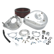 S&S<sup>®</sup> Teardrop Aircleaner Kit for 2008-'17 HD<sup>®</sup> Twin Cam<sup>®</sup>, 103<sup>™</sup>, 110<sup>™</sup> Tri-Glide and CVO<sup>®</sup> Stock-Bore Throttle By Wire Models - Chrome