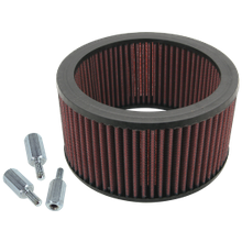 High Flow Air Filter Kit With Spacers for S&S<sup>®</sup> Teardrop Air Cleaners For S&S<sup>®</sup> Super E and G Carbs and EFI Throttle Bodies