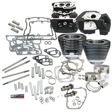"S&S 106"" Big Bore Hot Set Up Kit<sup>®</sup> With CNC Ported Cylinder Heads  - Wrinkle Black"