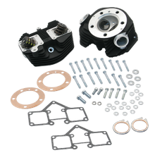 "S&S<sup>®</sup> Super Stock<sup>®</sup> 3-5/8"" Bore Band Style Single Plug Cylinder Head Kit For 1979-'84 HD<sup>®</sup> Big Twins - Wrinkle Black Powder Coat Finish"