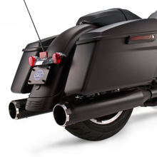 "Mk45 Black Contrast Thruster End Cap - Jet-Hot<sup>®</sup> Black Body Finish - 4.5"" Slip-On Muffler for 1995-'16 Touring Models"
