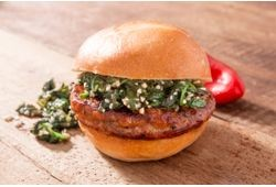 Hot Italian Pork Sausage Craft Burger