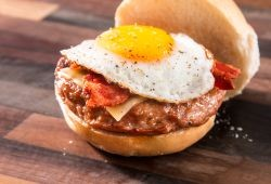 Mild Italian Pork Sausage Craft Burger