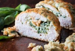 Florentine Stuffed & Breaded Chicken Breast
