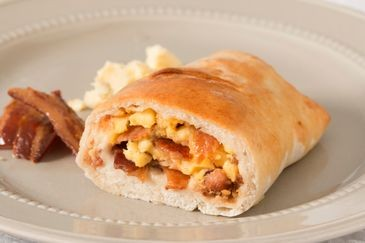 Breakfast Stromboli: Bacon, Egg & Cheese