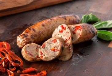 Italian Chicken Sausage W/Roasted Red Peppers & Garlic