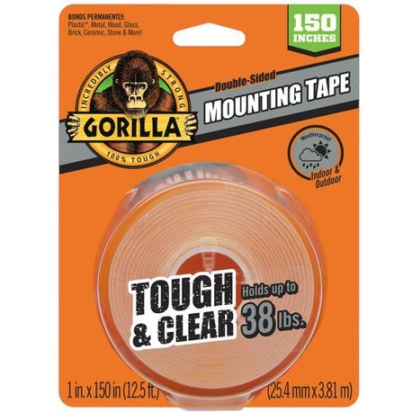Clear Mounting Tape 1 In X 12.5 Ft.