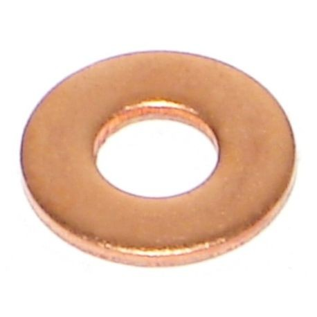 "#10 x 7/32"" x 1/2"" Copper SAE Flat Washers"