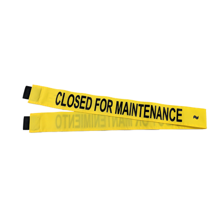 Closed for Maintenance Magnetic Banner