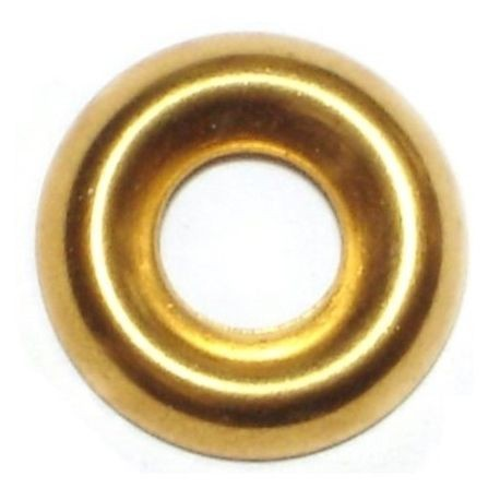 "#10 x 7/32"" x 19/32"" Brass Finishing Washers"