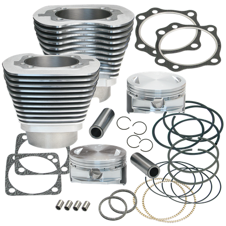 "4 1/8"" Bore Cylinder Kit for S&S T124 Engines 1999-'06 Big Twins - Silver Powdercoat Finish"
