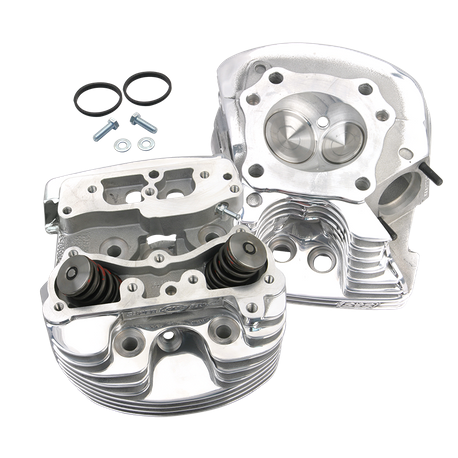 "S&S<sup>®</sup> Super Stock<sup>®</sup> Cylinder Heads For S&S<sup>®</sup> 4-1/8"" V-Series Engines For 1984-'99 - Polished Aluminum Finish"