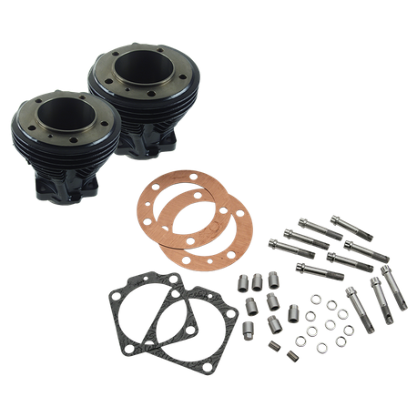 "3-1/2"" Bore Cylinder Set for 1979-'84 80"" Big Twins and Stock Bore Strokers - Gloss Black"