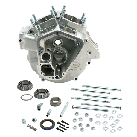 "Super Stock<sup>®</sup> Alternator Style Crankcase for 1970-'84 Big Twins with 3-5/8"" Bore - Natural"