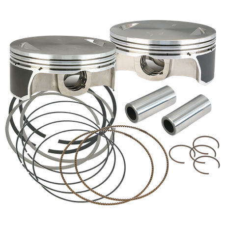 "S&S<sup>®</sup> 41/8"" Bore Forged Piston Kits For 1984-'16 Hot Set Up Kits<sup>®</sup>"