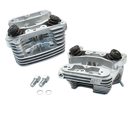 "Super Stock<sup>®</sup> Cylinder Head Kit For S&S<sup>®</sup> 4"" Bore V100  Engines For 1984-'99 HD<sup>®</sup> Big Twins - Polished Aluminum Finish"